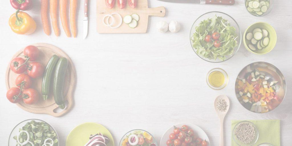 Gemüse Tisch hell