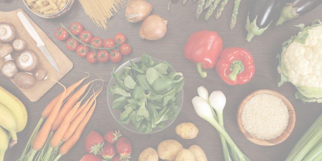Gemüse Tisch dunkel